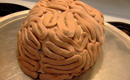 Marshmallow fondant brain cake